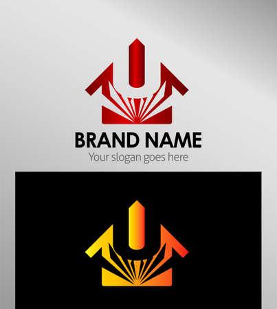 house logo: House icons, logo U Letter