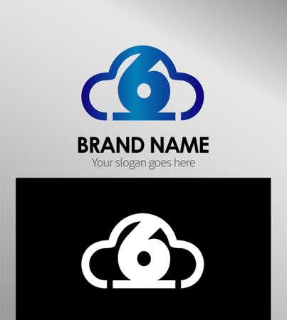 six web website: Number six 6 logo icon Symbol Illustration