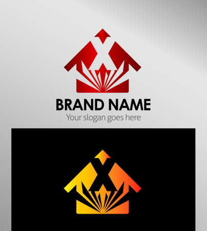 xy: House icons, logo X letter