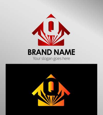 house logo: House icons, logo Q Letter