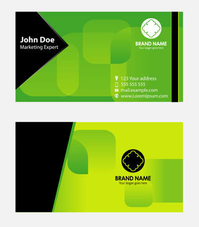 green card: Business card vector