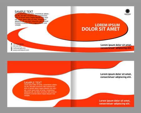 bifold: Flyer or Cover Design bi-fold Illustration