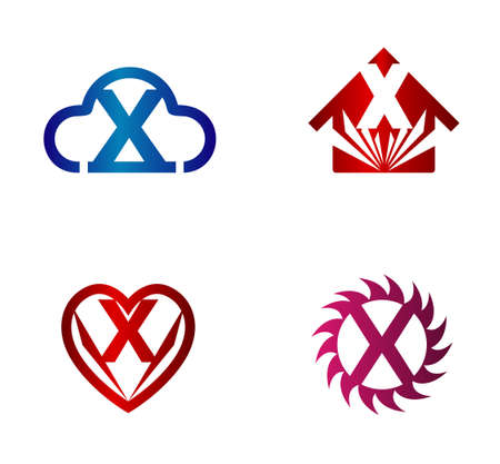 xy: Vector illustration of abstract icons based on the letter x