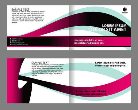 bifold: Bi-fold brochure design set Illustration