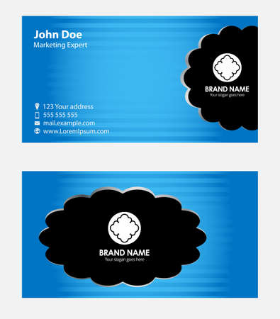 sullen: Blue business card template