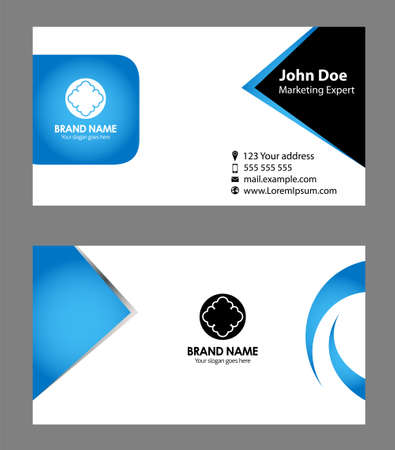blue card: Blue business card