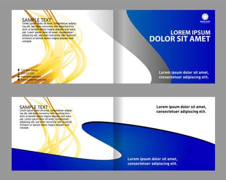 bifold: Professional business Brochure templatebi-fold