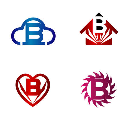 convergence: Design vector template. B letters icon set Illustration