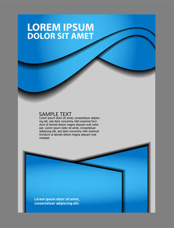 publisher: Vector brochure template design