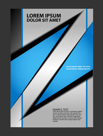 rocketship: modern trendy flyer Illustration