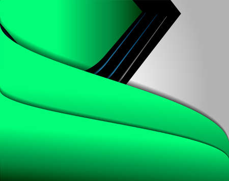 earth moving: Green background graphic curve line for text and message modern web design