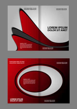 brochure cover design: Bi fold business brochure vector template