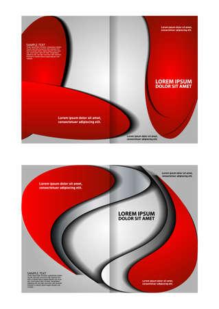 coworker banner: Bi-Fold Corporate Business Store Mock up & Brochure Design Illustration