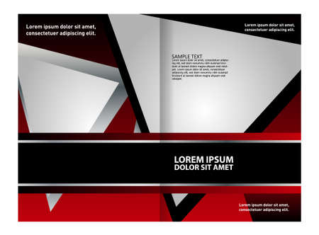 book publisher: vector business brochure (booklet) template