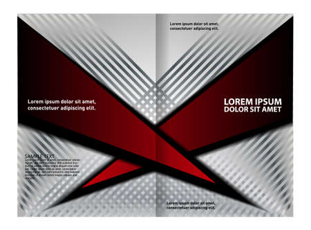 fold: Red brochure tri fold template