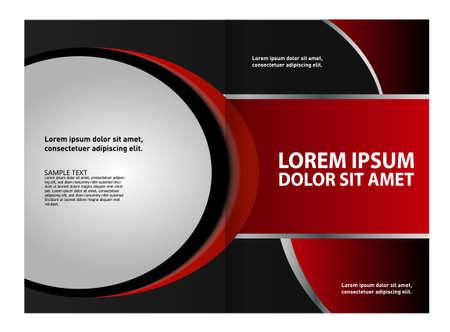 coworker banner: red brochure template