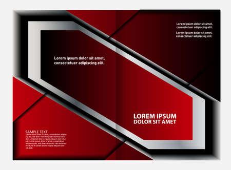 magazine stack: Bi-fold brochure template design, business leaflet, booklet