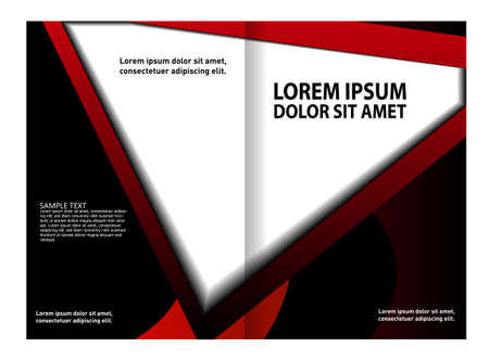 bifold: Bi-fold brochure template design, business leaflet, booklet