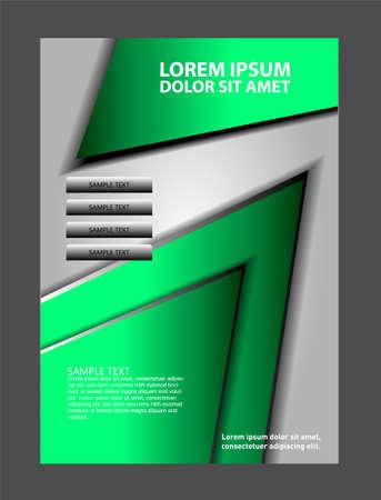 coworker banner: Vector business brochure, flyer, magazine cover� Illustration