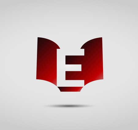 letter e: Letter E icon design template elements