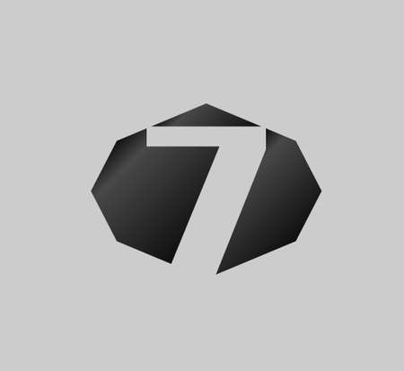 number 7: Number 7 icon. vector design template elements