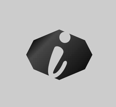 letter i: Abstract Letter I vector symbol