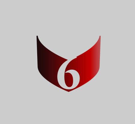 number 6: number 6 vector design template Illustration