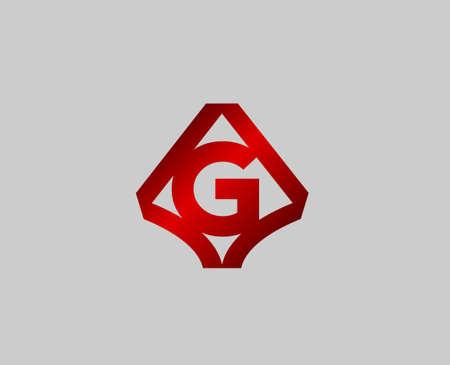 radon: Letter G design template Illustration