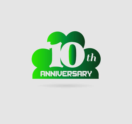 10 years: 10 years anniversary vector set Illustration