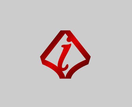 radon: Letter I design template