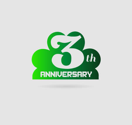 Celebrating 3 Years Anniversary Retro Label
