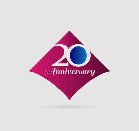 20th: 20th anniversary template illustration vector