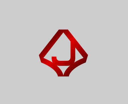 radon: Letter J design template