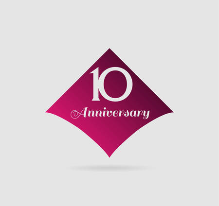 10th: 10th anniversary  template illustration vector