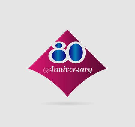 80 years: Template 80 years anniversary
