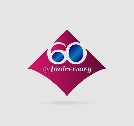 60: 60 years anniversary Template Illustration