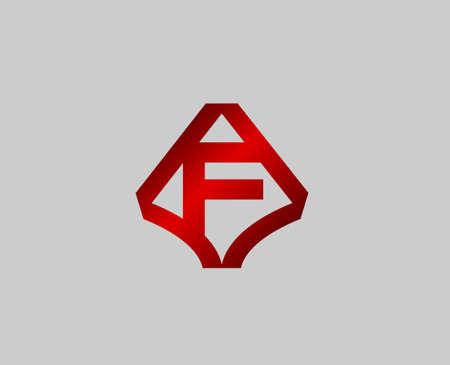 radon: Letter f design template Illustration