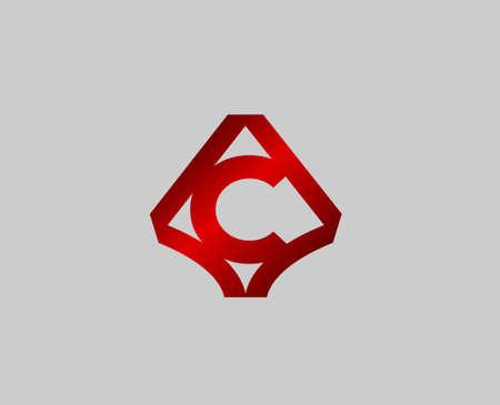 radon: Letter C design template Illustration