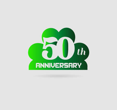 50 years anniversary: 50 years anniversary with ribbons, vector illustration