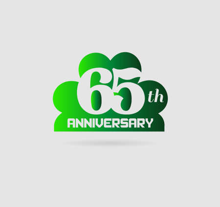 Vector illustration 65 years anniversary