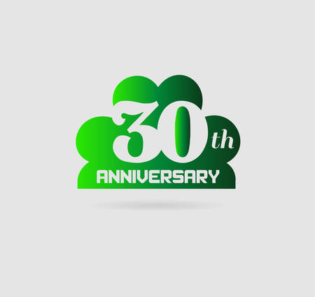 the 30: Celebrating 30 Years Anniversary Illustration