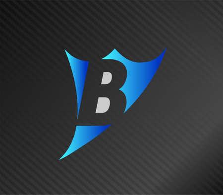 edu: Letter B logo Illustration