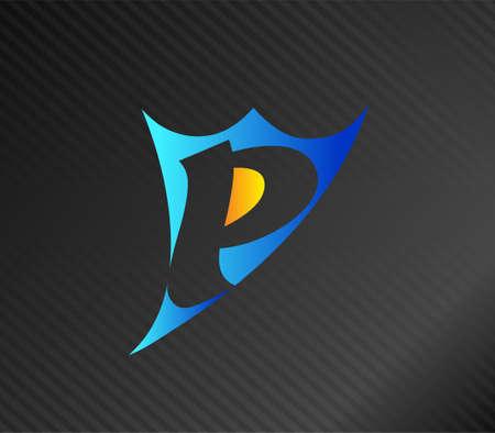edu: Letter P logo