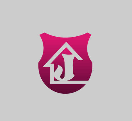 abstract letters: Abstract Letter J home with real estate