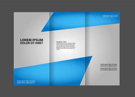 book publisher: brochure design template tech Illustration