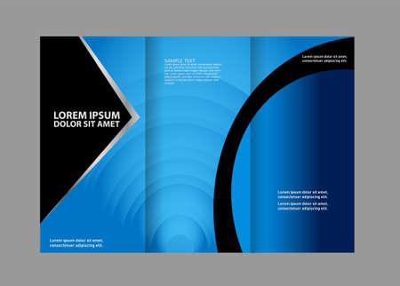 technologic: brochure design template tech Illustration