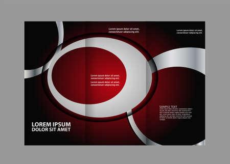 magazine stack: Tri-fold brochure business template, template design, mock-up cover Illustration