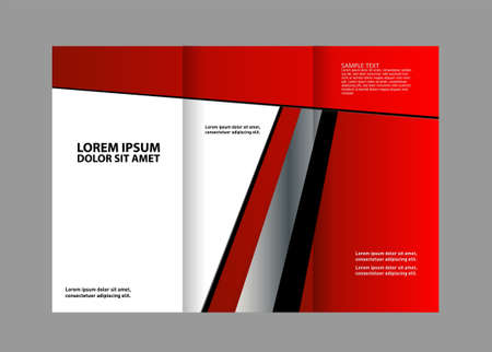 book spreads: Vector brochure template design EPS 10