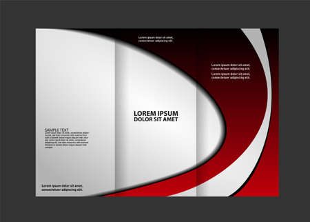 Tri-fold brochure empty vector template design print, booklet or flyer trifold