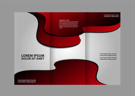 book spreads: Vector brochure template design elements. EPS 10